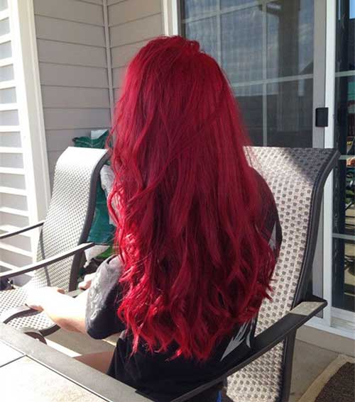 Hair Red Color-12