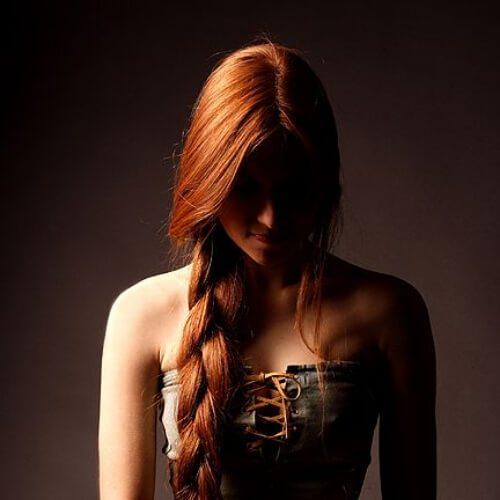 peinados trenza jumbo rojo para pelo lacio