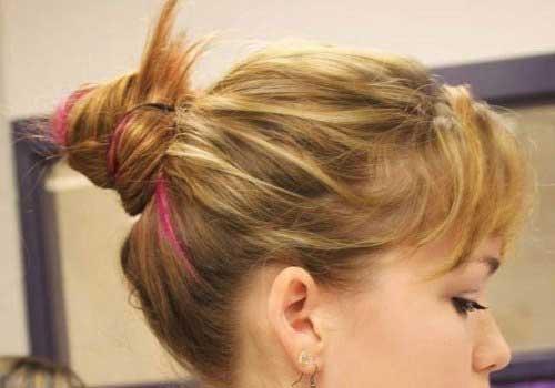 Mejor pelo corto medio Updos