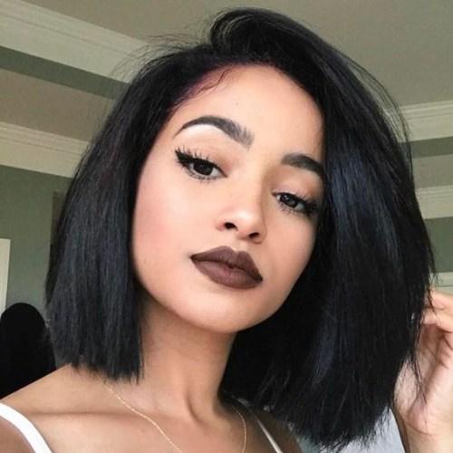 peinados bob entrecortadas para mujeres negras