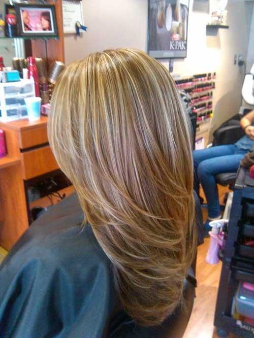 Magníficos aspectos destacados para el color del cabello