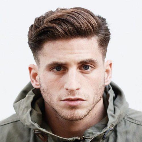 peinados pomp ondulados para hombres