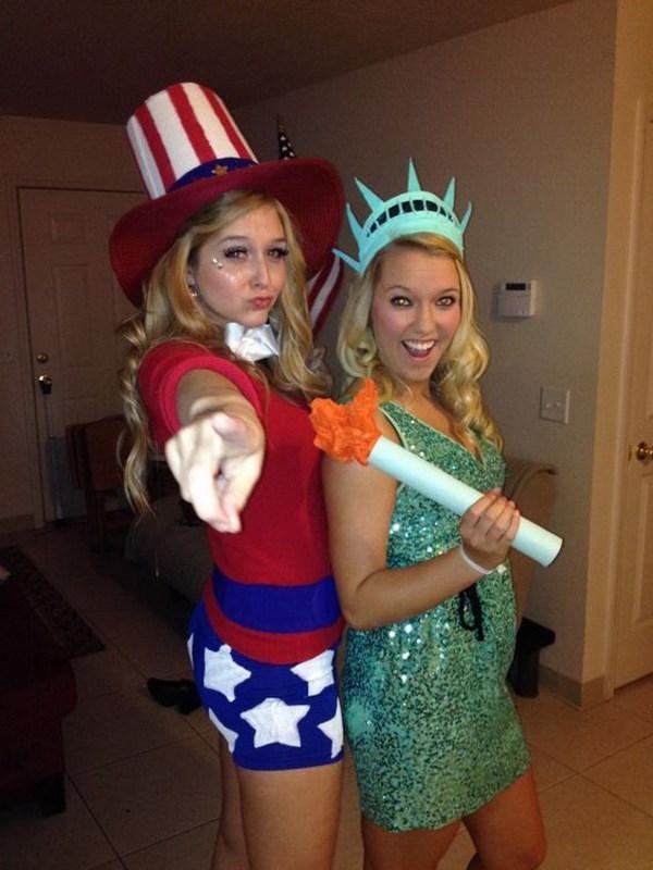 Lady Liberty y el tío Sam.