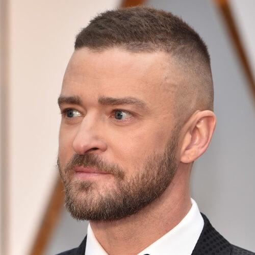 Peinados altos y ajustados de Justin Timberlake