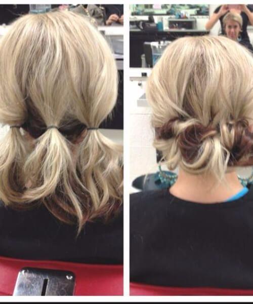 recogidos fáciles para el pelo corto