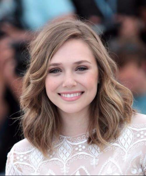 cortes de pelo de elizabeth olsen para caras redondas