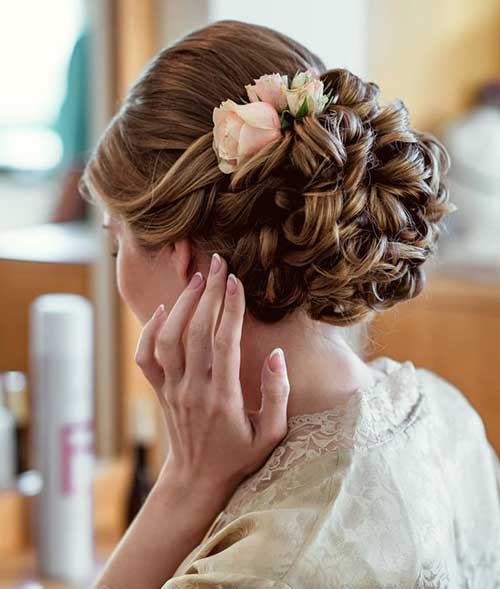Estilos de cabello de la boda para cabello largo-12