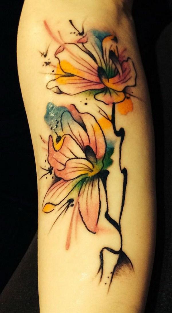 Color de agua Magnolia Tattoo.