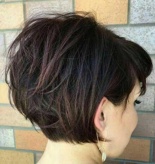 Corto peinados marrones