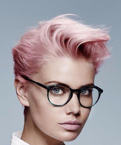 corte largo rosa pixie
