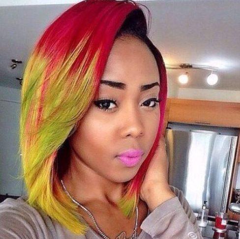 peinados de bob tropical para mujeres negras