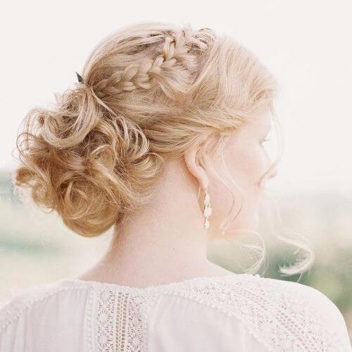 glam boda peinado fresa cabello rubio