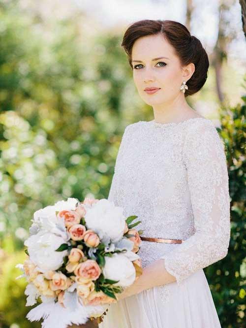 Precioso pelo largo Updos para bodas
