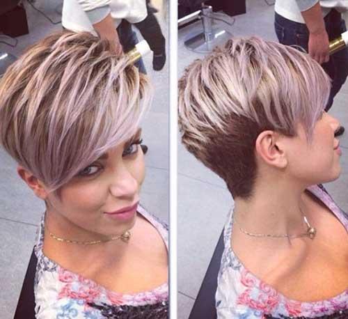 Elegantes cortes de cabello Pixie para cabello corto