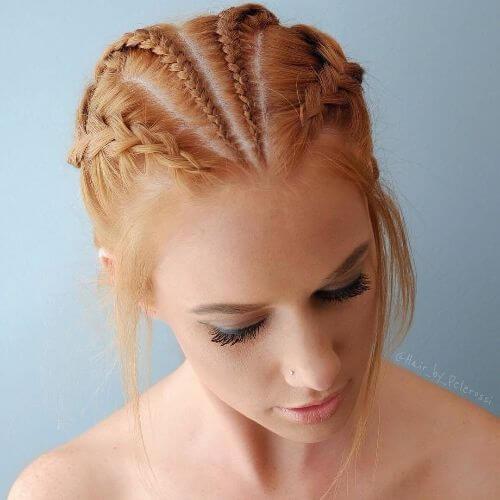 cuatro trenzas updo peinado