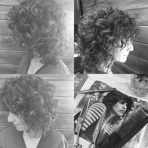pelo corto y rizado