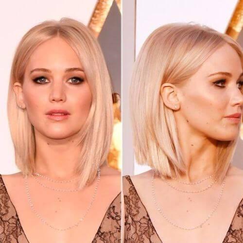 corte de pelo bob largo y elegante