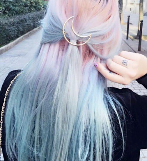 ombre pelo rosa y azul