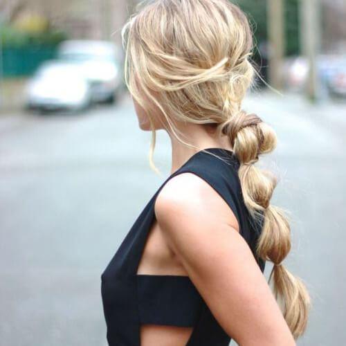 Peinados geniales de trenza de burbujas para niñas