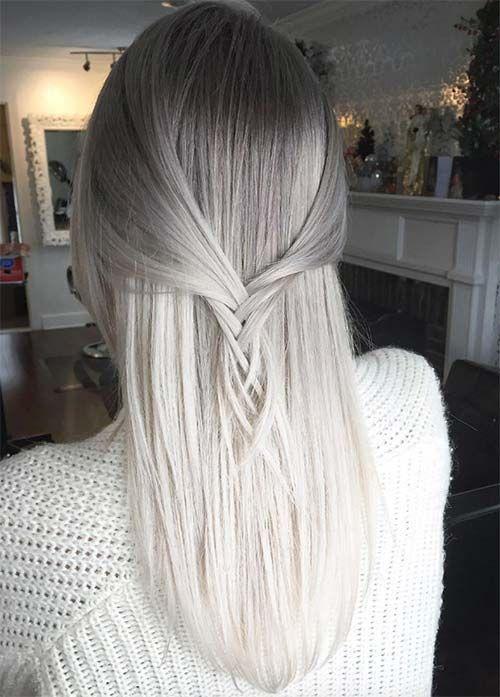 tinte teñido de pelo gris y blanco