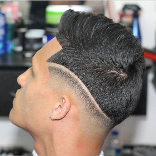 Corte de pelo de línea de dos secciones