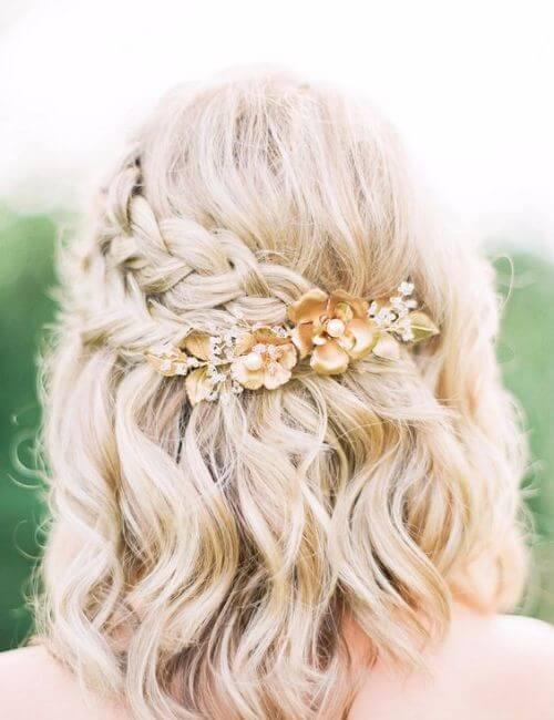 peinados de damas de honor lindo pelo corto