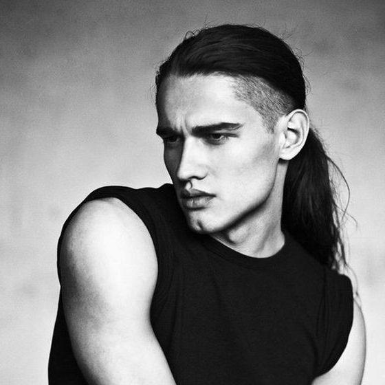 peinados largos de moda para hombres
