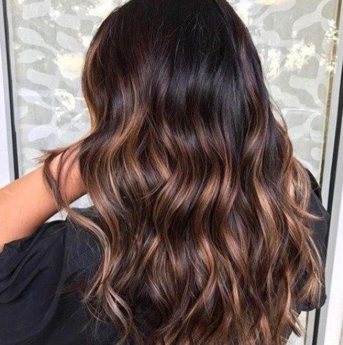 color de cabello balayage coco oscuro