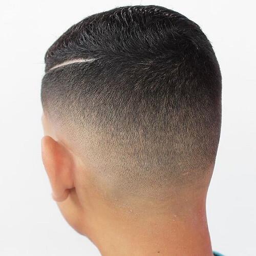 Crew Cut Hard Part Haircut