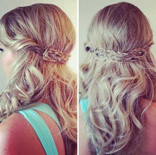 Easy Half Up Half Down Hairstyle para Prom