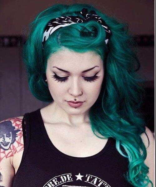 peinado verde bosque hasta peinados