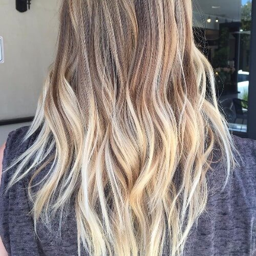 rubio balayage cabello rubio sucio