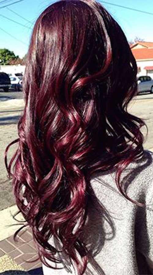 Brunette Borgoña Hair Color Ideas 2016