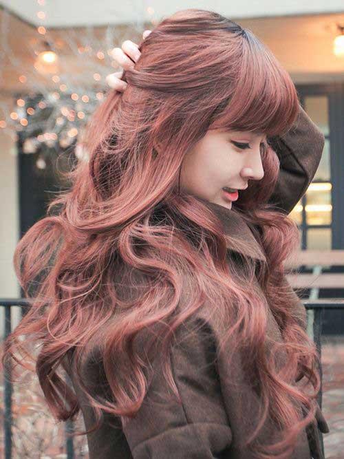 Peinados con flequillo recto