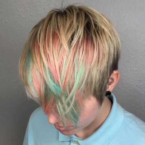 arcoíris golpea corte pixie