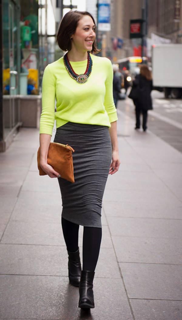 trajes de falda lápiz 23