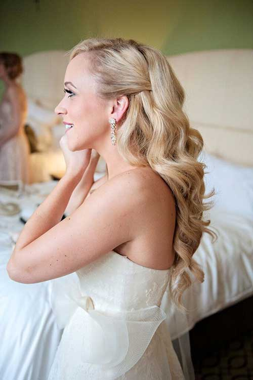 Gorgeous Half Up Half Down Peinados nupciales