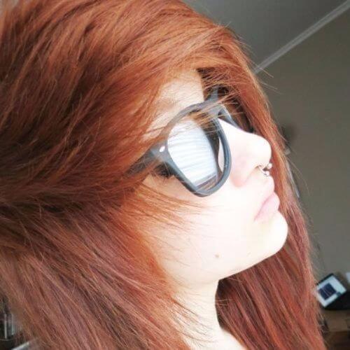 corte de pelo en capas con flequillo