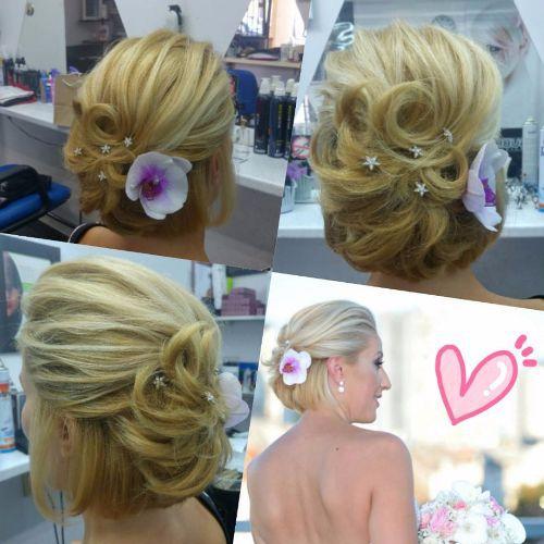 Updos boda para cabello corto