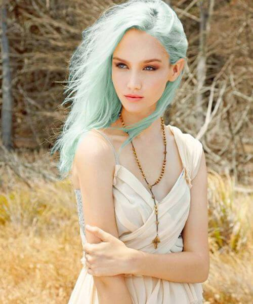 color de pelo de teal de hadas de madera