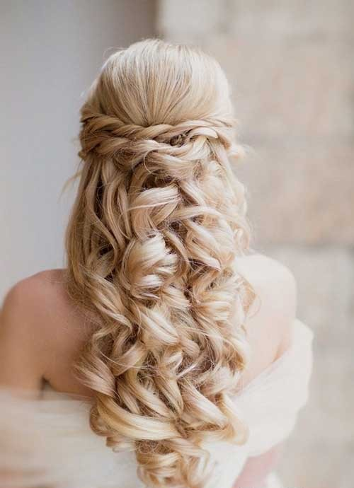 Peinado nupcial mediterráneo