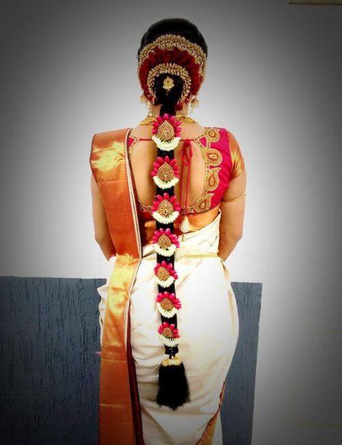 peinados indios para la boda de cabello largo