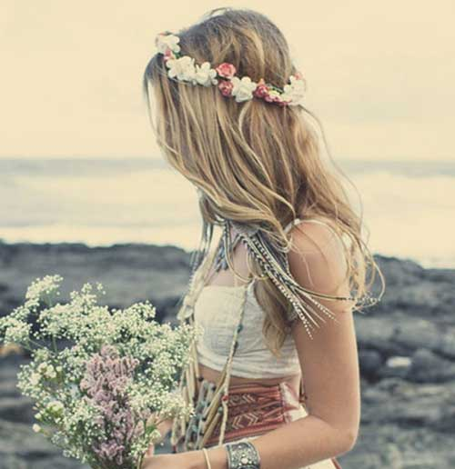Boda en la playa Boho Hairstyle Idea