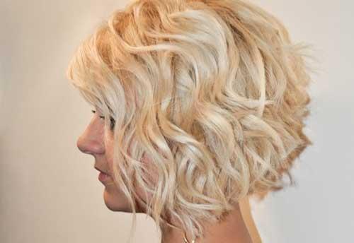 Bob cortes de pelo ondulado espeso nuevos peinados lindos para mujeres