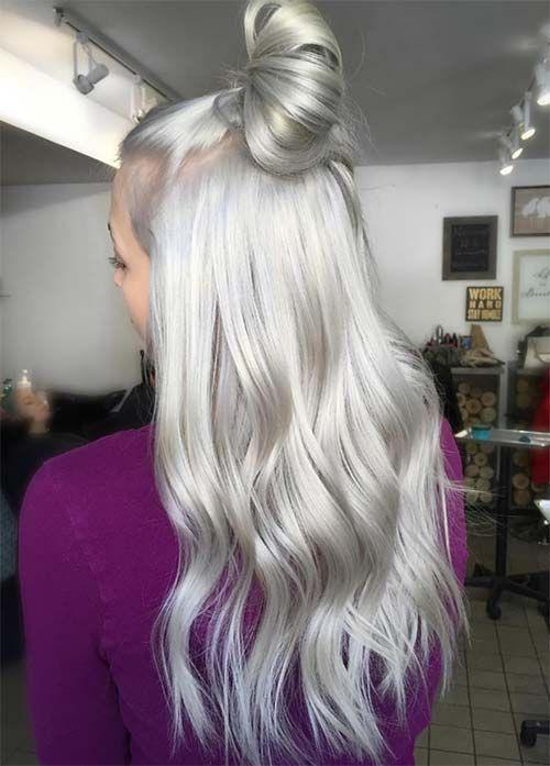 cabello gris plata platino