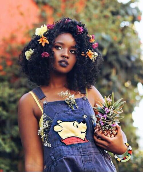verano niño negro niña peinados