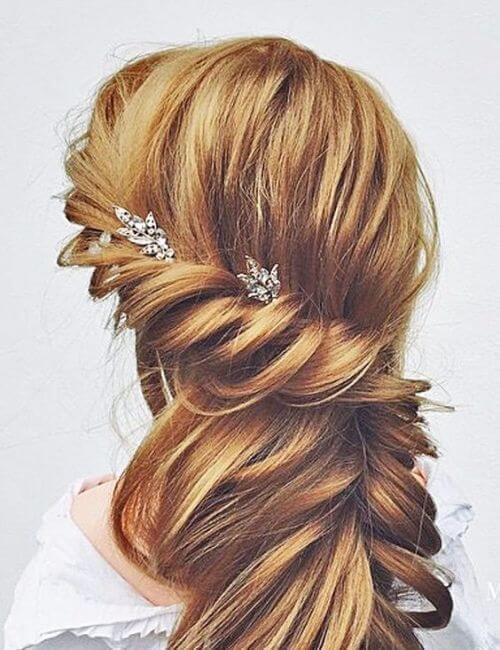 románticos peinados de damas de honor