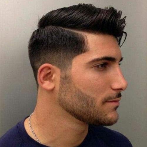 Peinados modernos cónicos medianos para hombres