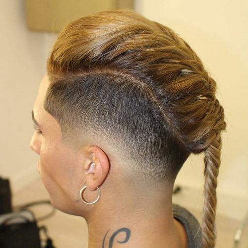 rubia trenza peinados largos para hombres