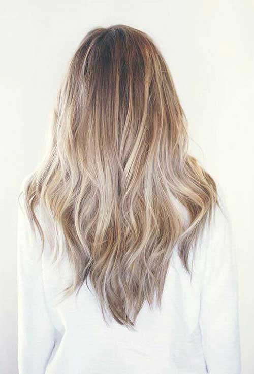 V forma de cabello